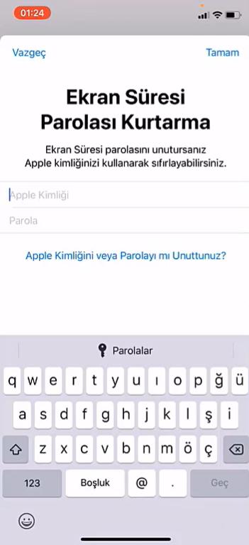 iphone uygulama kilitleme