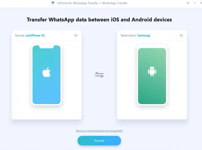 ULTFone'un aracılığıyla WhatsApp Verilerini Aktarma