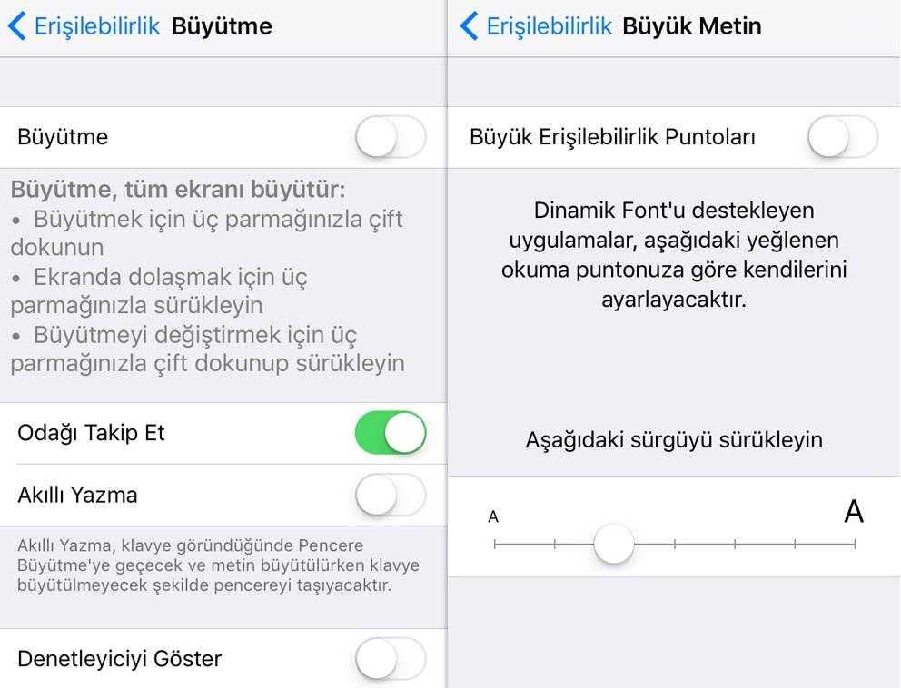 iPhone Yazı Tipleri Nasıl Büyütülür